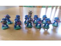 Warhammer 40000 space marine tactical squad