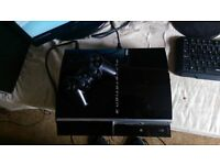 Playstation 3 80gb with 12 games 1 controller 1 controler charging cable and 1 standard powercable.
