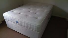 Double Bed, Silent Night Divan Bed with Spring System and 2 Drawers