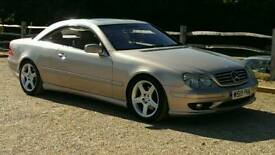 MERCEDES CL 500 VERY RARE GOLD WITH OFF WHITE LEATHER BMW 6 series jaguar xk clk