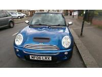 MINI COOPER CONVETIBLE 1.6 PETROL WITH BLACK LEATHER.