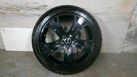 ALLOYS X 4 OF 20 INCH GENUINE RANGEROVER/DISCOVERY/AUTOBIOGRAPHY/FULLY POWDERCOATED IN BLACK/SPARKLE