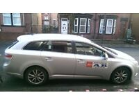 Leeds private hire vehicle Taxi for sale. Toyota Avensis estate tr27