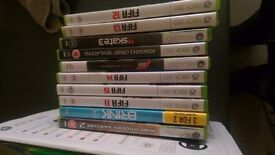 X box 360 boxed as new with loads of games £65