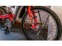 Hybrid Mountain Bike Full suspension Full set