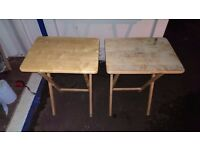 Folding Wooden TV Table / Snack Table / TV Tray Table: 2 Available