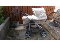 Silver Cross Vintage Pram Sleepover Carrycot Pushchair/Mamas And Papas Classic Baby Travel Cot