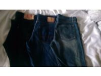 Mens jeans,ben sherman,french conection,levi 501