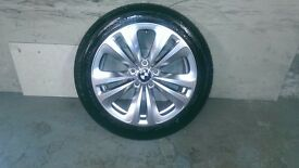 ALLOYS X 4 OF 18 INCH GENUINE BMW 6/SERIES/OR/7/SERIES/STYLE/234/FULLY POWDERCOATED IN SHADOW/CHROME