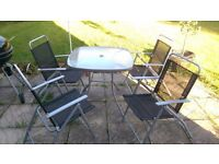 4 seater garden table and chairs
