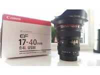 Canon EF 17-40 f4 L USM Lens in Excellent Condition