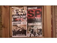"Simple Plan 'Shut Up' 'Welcome To My Life' 'Untitled' & 'Crazy' 7"" Vinyl Singles"