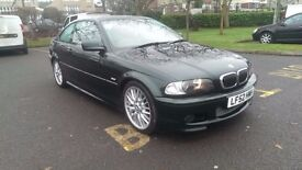 2002/52 BMW 330i M-Sport Coupe, green, low miles, FSH, manual, new clutch & DMF, Nice example