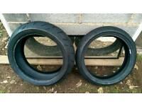 Motorcycle tyres part worn Dunlop sportmax qualifier 2 190/55/17 120/70/17