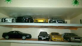 Car Models 1/18 ( ALL UNBOXED ) all 8 cars for £70 ) some of them cars is missing some bits