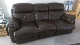 Three seater power recliner sofa and manual reliner chair