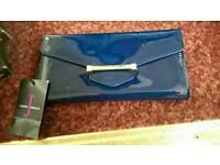 Brand new Jasper Conran patent blue purse