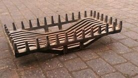 Cast Iron Fire Grate, really heavy solid iron, 75cm wide , suit large fireplace or patio perhaps