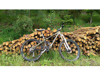 Full suspension Giant 'Reign' mountain bike (small)