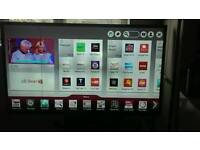 47 inch LG LED Smart TV ( has small line down left hand side please look at pics)
