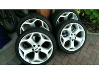 Genuine Ford Focus ST wheels and Dunlop winter tyres