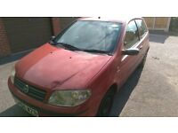 Fiat Punto, 1.2lt 3 Door in Red 04 plate MOT until October 2017 £200 ono
