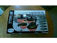 Stoneline 8 piece cookware set