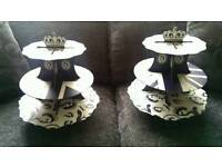 2x Cake stands