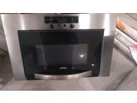 INTEGRATED/ BUILT IN STAINLESS STEEL PRIMA MICROWAVE OVEN - CAN DELIVER
