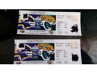 Baltimor Ravens vs Jacksonville Jaguars Wembley 2017 Sep 24 NFL 2x tickets(£190)