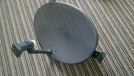 Zone 2 Satellite Dish with Quad LNB Freesat