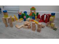 Wooden blocks, 90+ blocks - £5