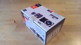 Sony Alpha NEX-5 14.2MP Digital Camera - Black (double lens Kit) in original box