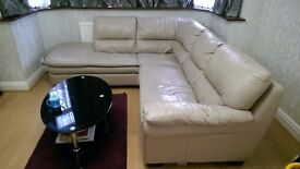 5 seater L shape leather sofa for sale