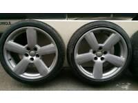 "Genuine audi rs6 18""alloy wheels 5x112"