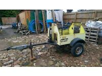 car yard motorbike trailer with brakes / handbrake suspension jockey wheel motocross motox £100!!