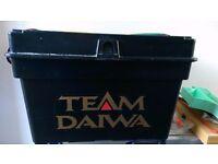 Fishing Diawa Seat Box, Floats, float box, rod rests, wagg tip