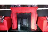 Swap ornate fireplace with marble hearth