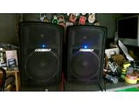 Carlsbro gamma 250 watt active speakers.