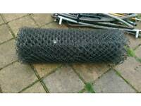Galvanised chain link fencing 1.4m tall, 25m long