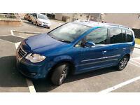 2007 Volkswagen Touran SE 1.9 TDI (105bph) Metallic Blue.(7 Seater)