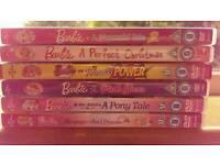Joblot of Barbie DVDs.