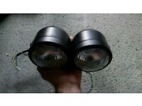 Twin headlights headlamps motorbike motorcycle