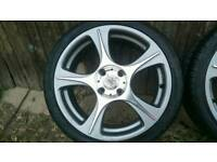 Nearly New - Vauxhall/Ford - 4x108 pcd - Lenso Devil 17 inch Alloy wheels with brand new tyres