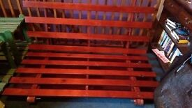 Hardwood Double Futon Base
