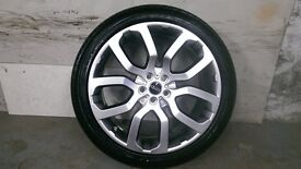 ALLOYS X 4 OF 22 INCH GENUINE RANGEROVER/VOUGE/EVOKE/FULLY POWDERCOATED IN A STUNNING SHADOW/CHROME