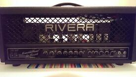 As new, Rivera, Tre-Knucklehead guitar amp head and custom flight case. £100 Price drop, now £1000