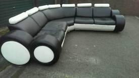 Corner sofa, leather