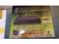 BRAND NEW HIGH QUALITY SECURITY DVR FROM QVISCOMES WITH 2 EYEBALL DOME CAMERAS,