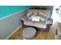 lovely couch and chairs 1 electric recliner